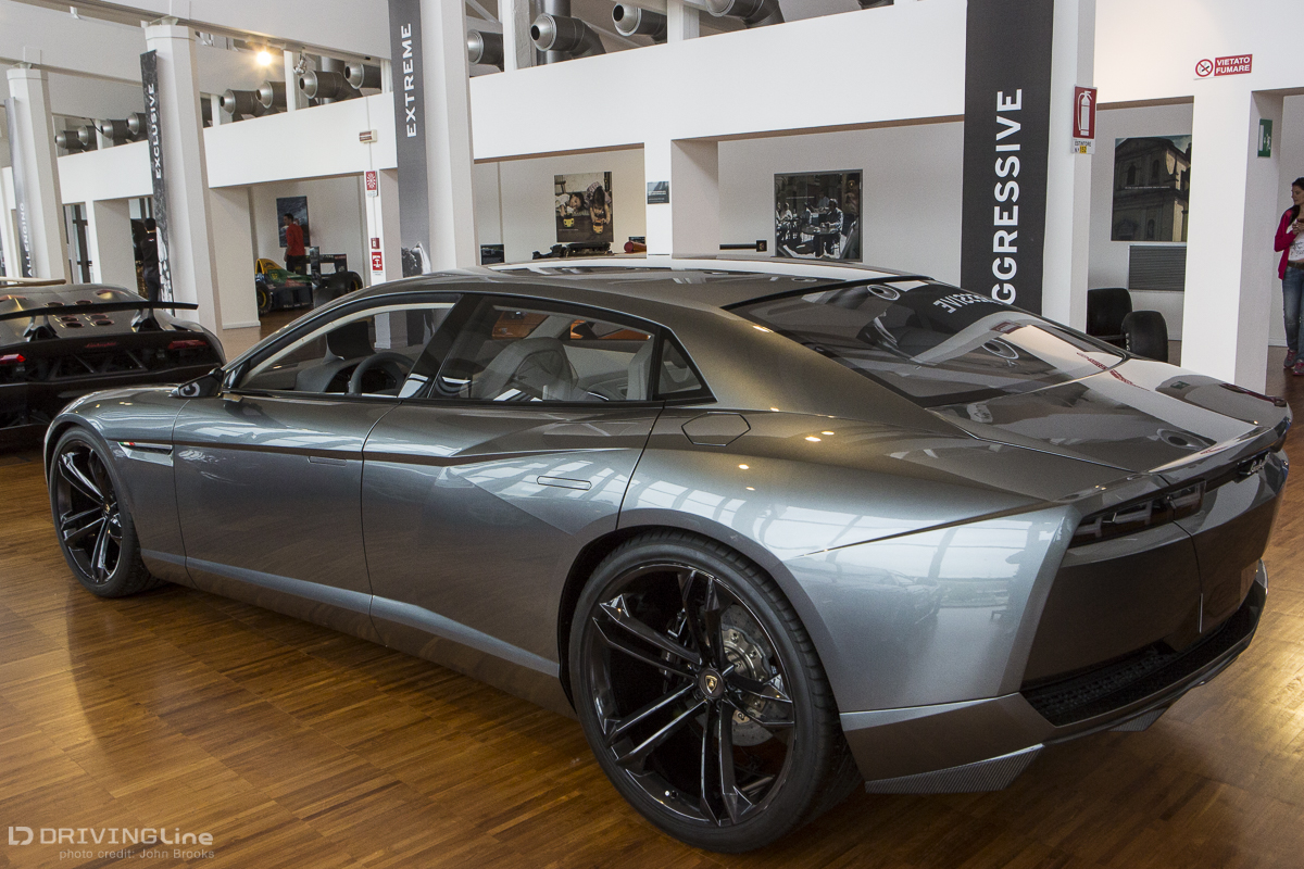 Perhaps The Most Radical Concept Car On Display, At Least From A Lamborghini  Perspective, Is The Estoque, Front Engined And Four Doors, Whatever Next?