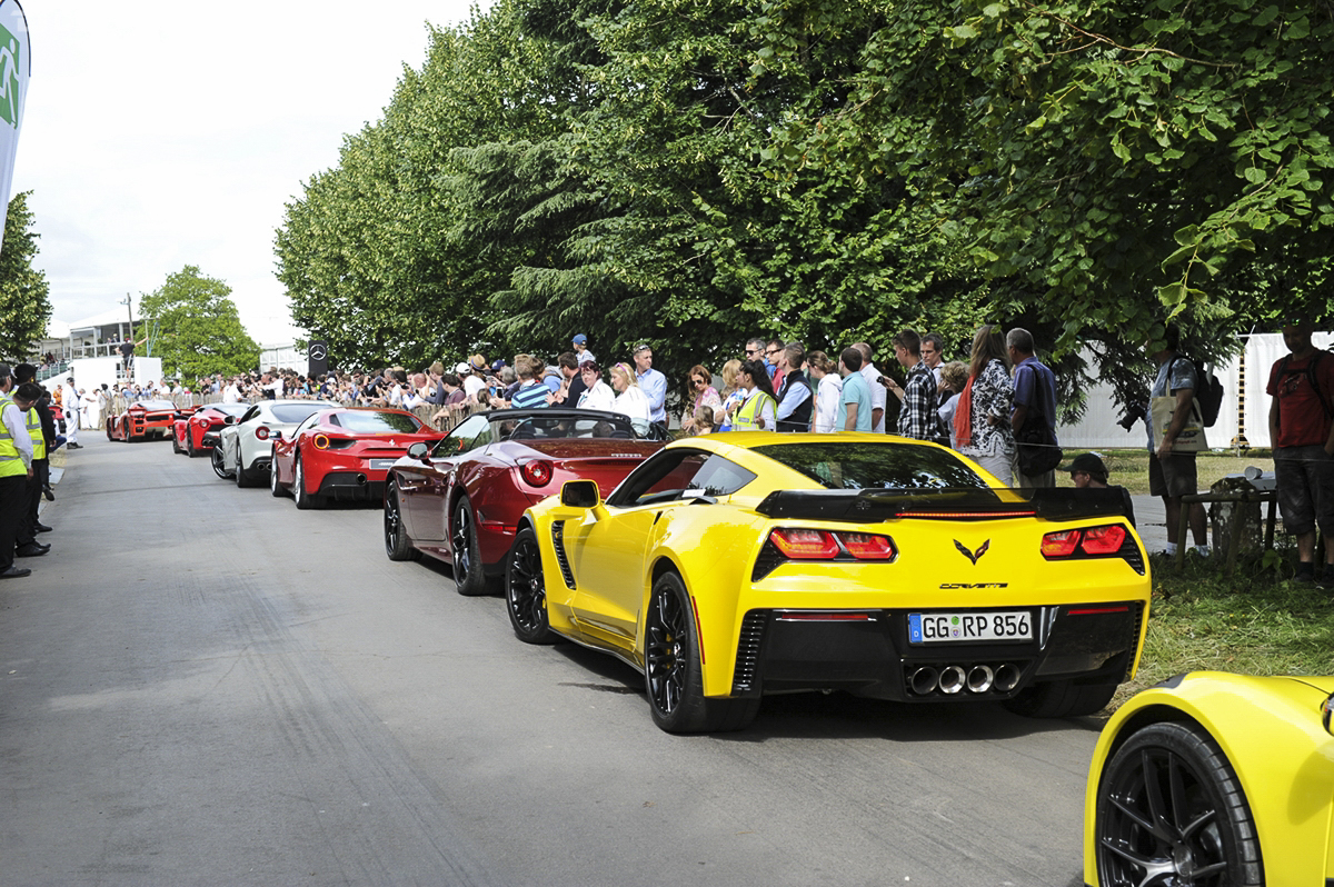 Postcard from Sussex Stars and Cars from Goodwood Festival of
